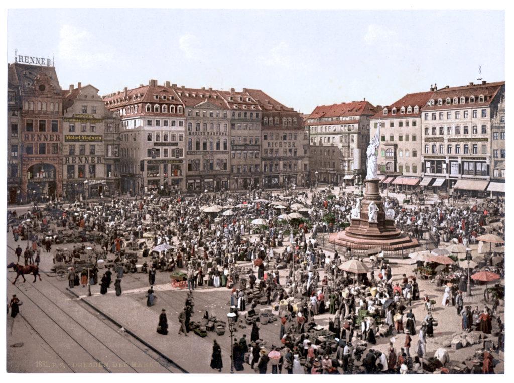 Dresden. Der Markt