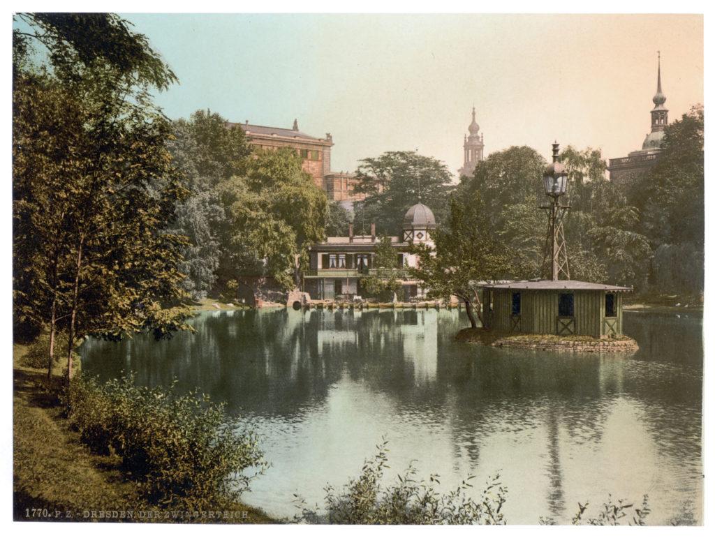 Dresden. Der Zwingerteich