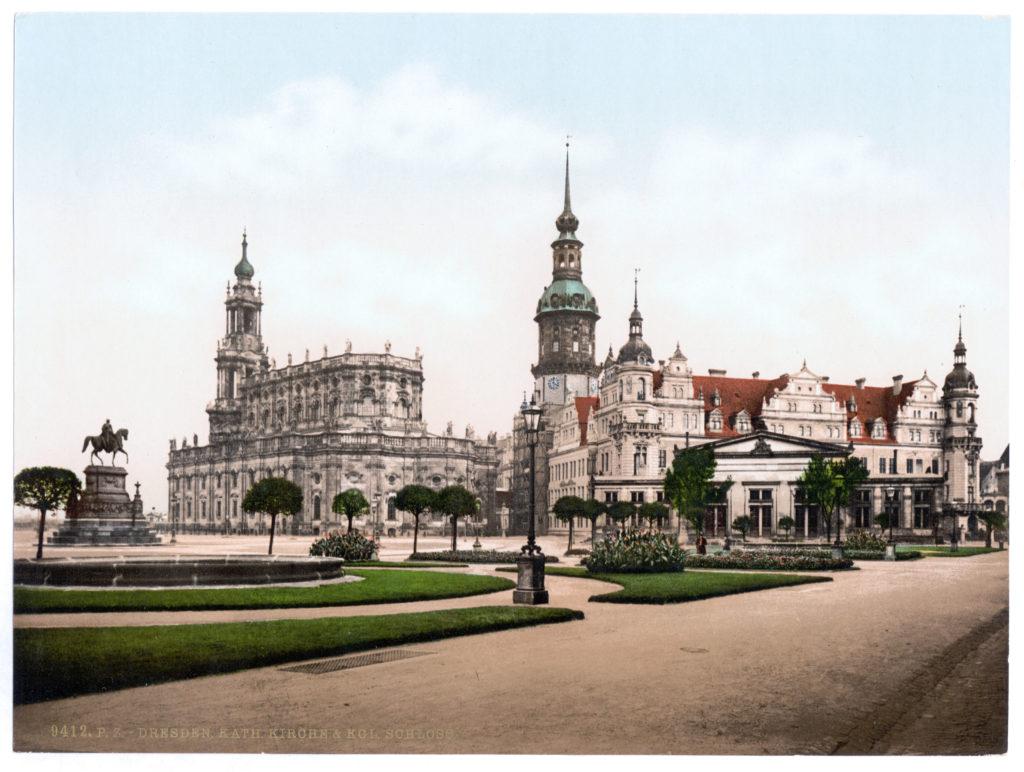 Dresden. Katholische Kirche & Königliches Schloss