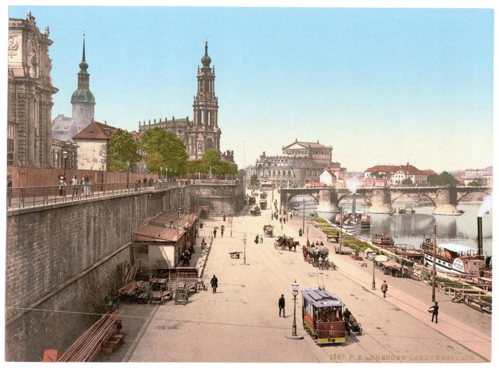 Dresden. Landungsplatz