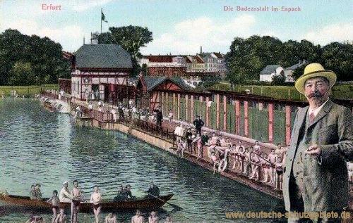 Erfurt, Die Badeanstalt im Espach