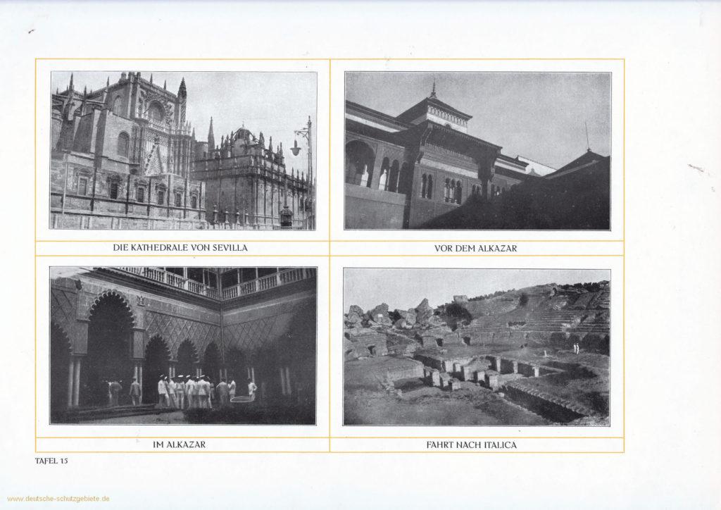 Die Kathedrale von Sevilla - Vor dem Alkazar - Im Alkazar - Fahrt nach Italica
