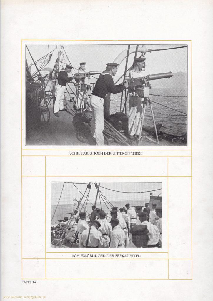 Schießübungen der Unteroffiziere - Schießübungen der Seekadetten