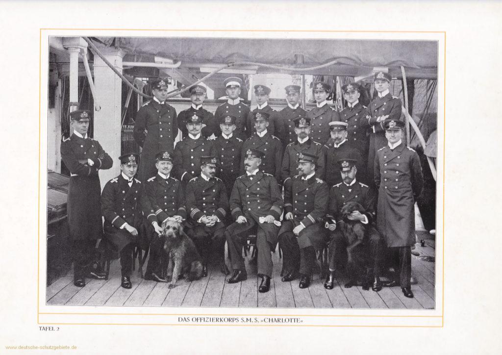 Das Offizierskorps S.M.S. Charlotte