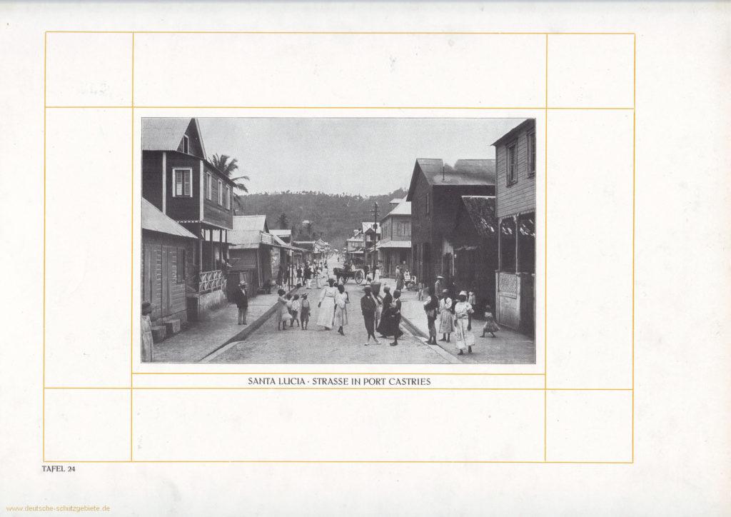 Santa Lucia - Straße in Port Castries