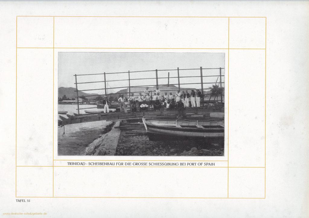 Trinidad – Scheibenbau für die große Schießübung bei Port of Spain
