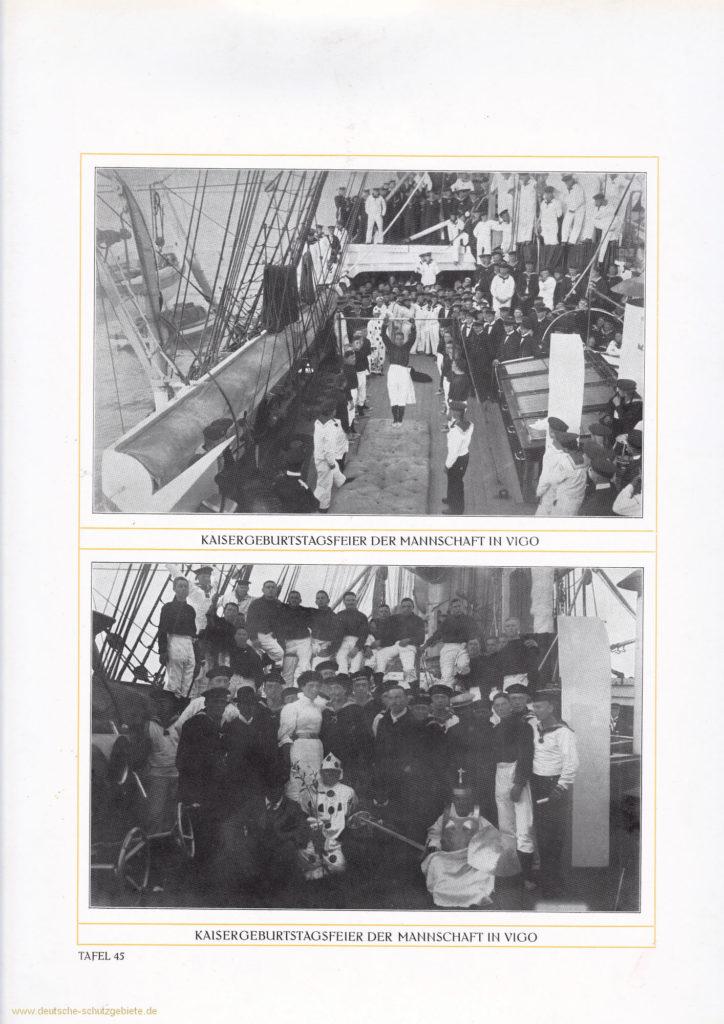 Kaisergeburtstagsfeier der Mannschaft in Vigo