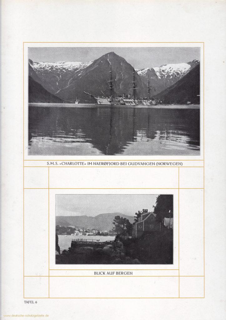 S.M.S. Charlotte im Nærøfjord bei Gudvangen (Norwegen) - Blick auf Bergen