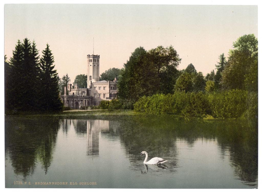 Erdmannsdorf. Königliches Schloss (Schlesien, Regbez. Liegnitz, Kreis Hirschberg, Riesengebirge)