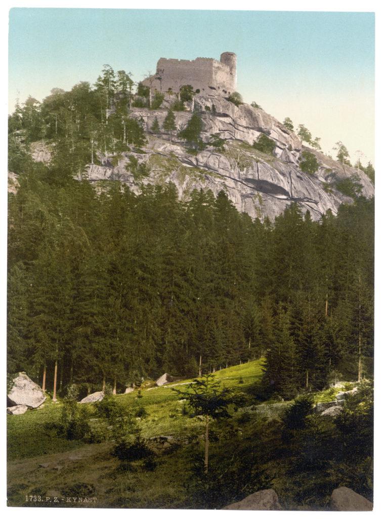 Kynast (Burgruine 558 m, Schlesien, Regbez. Liegnitz, Kreis Hirschberg, Riesengebirge)
