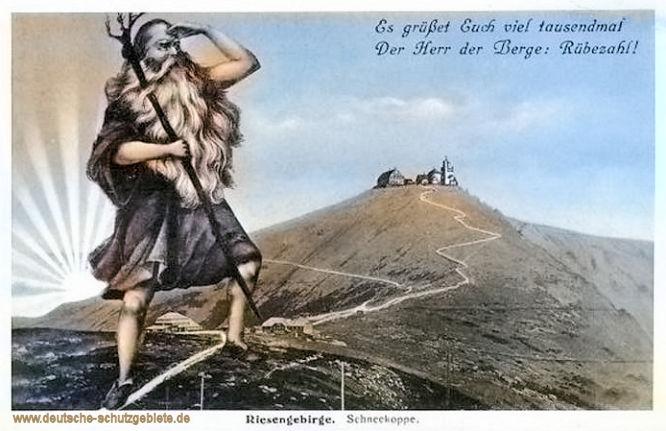 Riesengebirge. Es grüßt Euch viel tausendmal der Herr der Berge: Rübezahl!