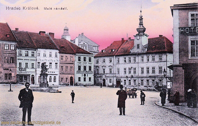 Hradec Králové (Königgrätz), Malé náměstí (Kleiner Marktplatz)