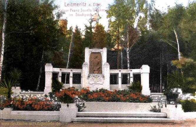 Leitmeritz an der Elbe, Kaiser Franz Josefs Denkmal im Stadtpark