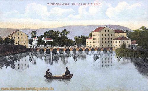 Theresienstadt, Mühlen an der Eger