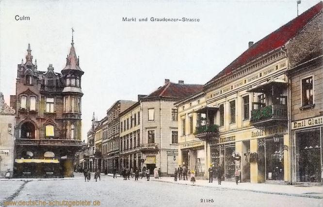 Culm, Markt und Graudenzer-Straße