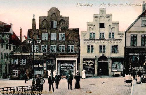Flensburg, Alte Häuser am Südermarkt