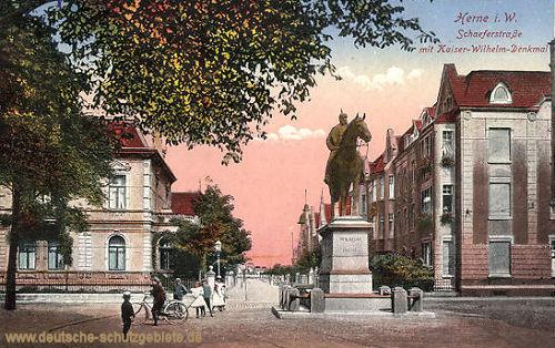 Herne, Schaeferstraße mit Kaiser-Wilhelm-Straße