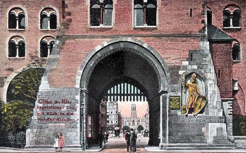 Köln. Eigelsteiner Tor mit Blick auf die Neußer Straße
