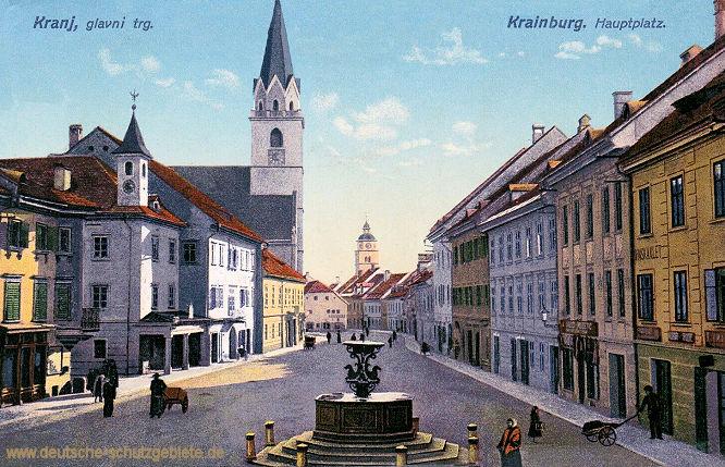 Krainburg, Hauptplatz
