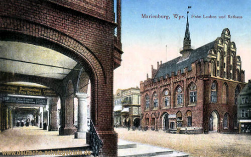Marienburg, Hohe Lauben und Rathaus