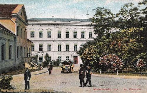 Marienwerder Wpr., Königliche Regierung
