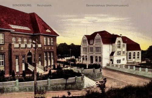Sonderburg, Reichsbank und Gemeindehaus (Heimatmuseum)
