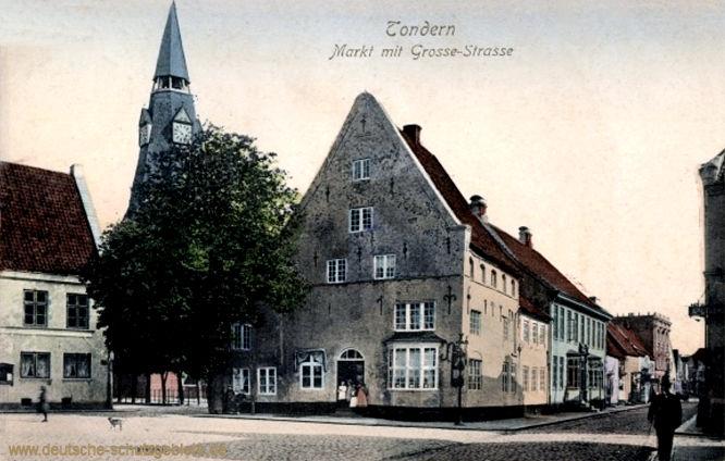 Tondern, Markt mit Große-Straße