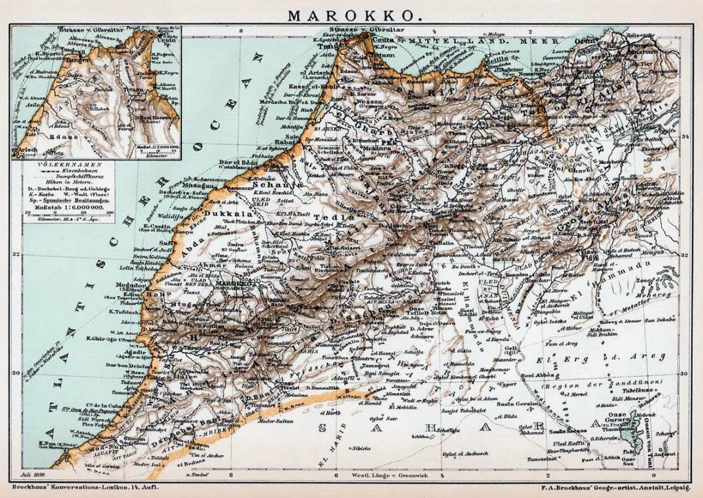 Marokko. Brockhaus' Konversations-Lexikon 14. Auflage 1894