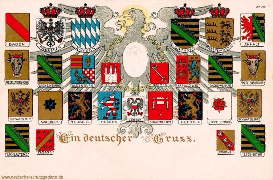 Wappen der Bundesstaaten des Deutschen Reiches