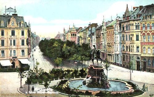 Köln, Hansaring und Kaiser Wilhelmdenkmal