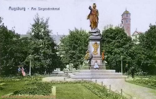 Augsburg. Am Siegesdenkmal