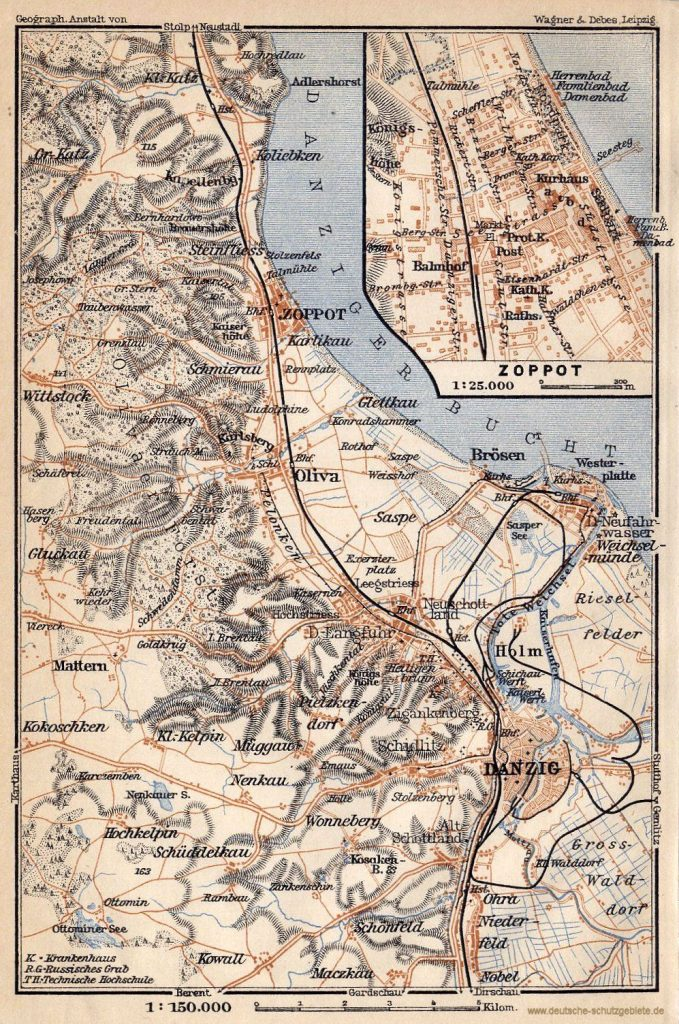 Danzig, Oliva, Zoppot, Umgebung 1913