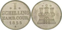 Hamburg 1 Schilling 1855