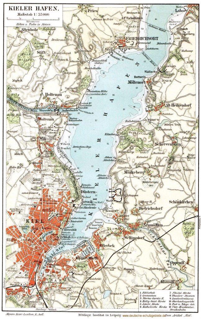 Kieler Hafen 1900 (Meyers Konversations-Lexikon 6. Auflage)