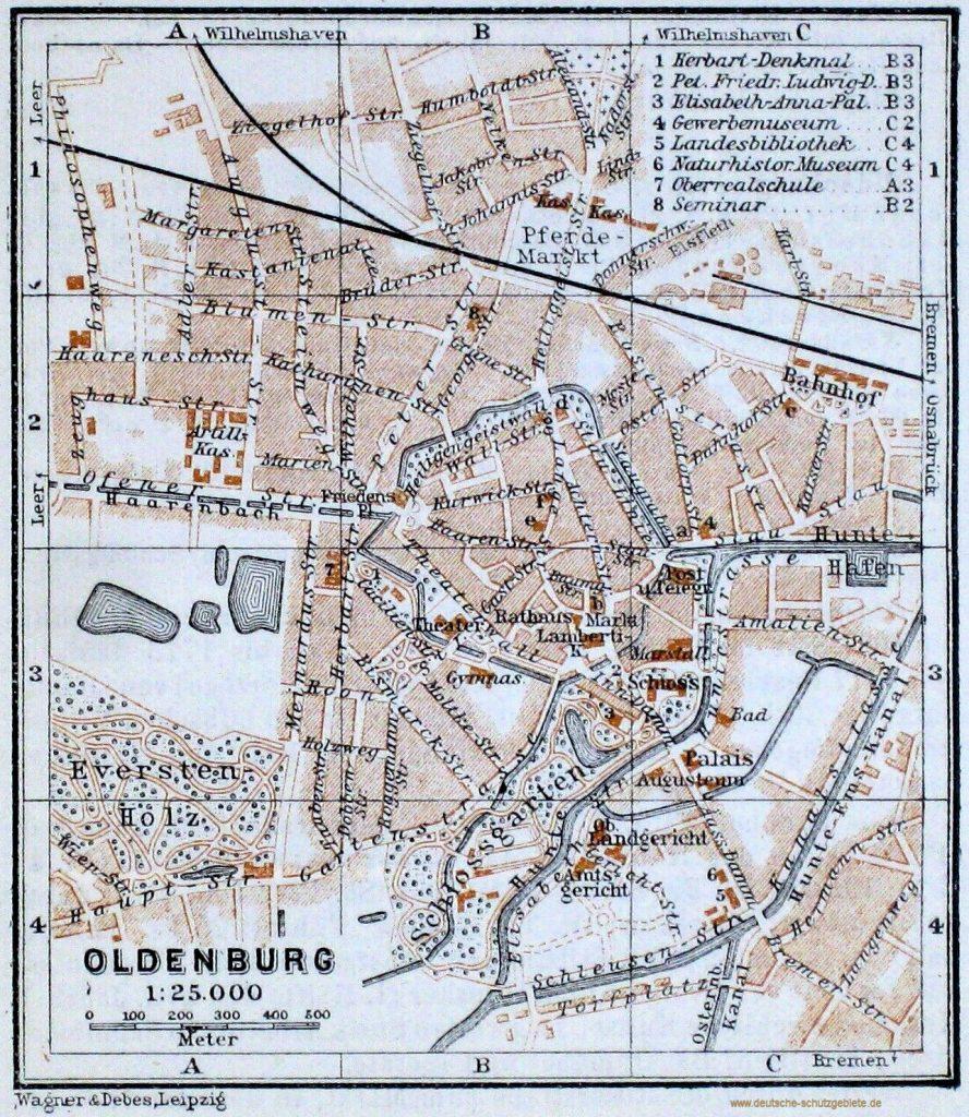 Oldenburg Stadtplan 1910
