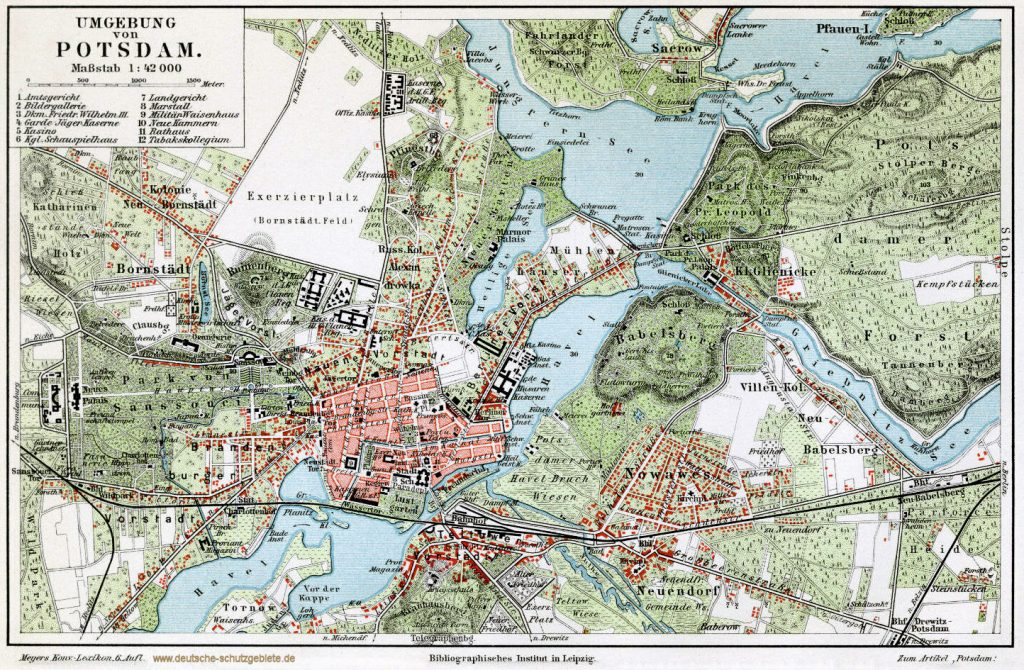 Umgebung von Potsdam 1900 (Meyers Konversations-Lexikon, 6. Auflage)