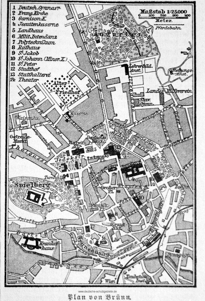 Brünn Stadtplan 1893