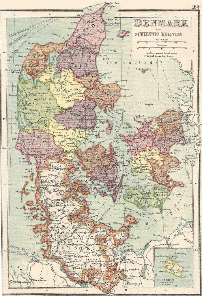 Dänemark mit Schleswig-Holstein 1854