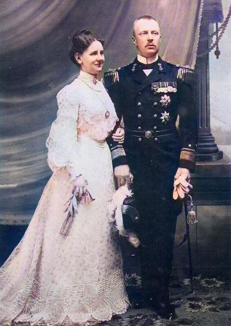 Königin Wilhelmina und Herzog Heinrich zu Mecklenburg 1905