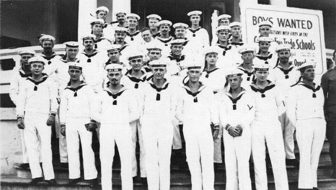 Internierte Besatzungsmitglieder von S.M.S. Geier auf Hawaii 1914