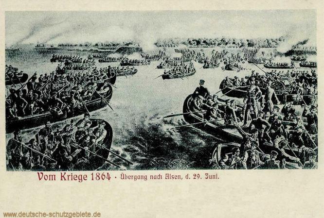 Vom Kriege 1864 - Übergang nach Alsen d. 29. Juni
