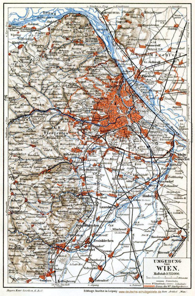 Umgebung von Wien 1900 (Meyers Konversations-Lexikon 6. Auflage)