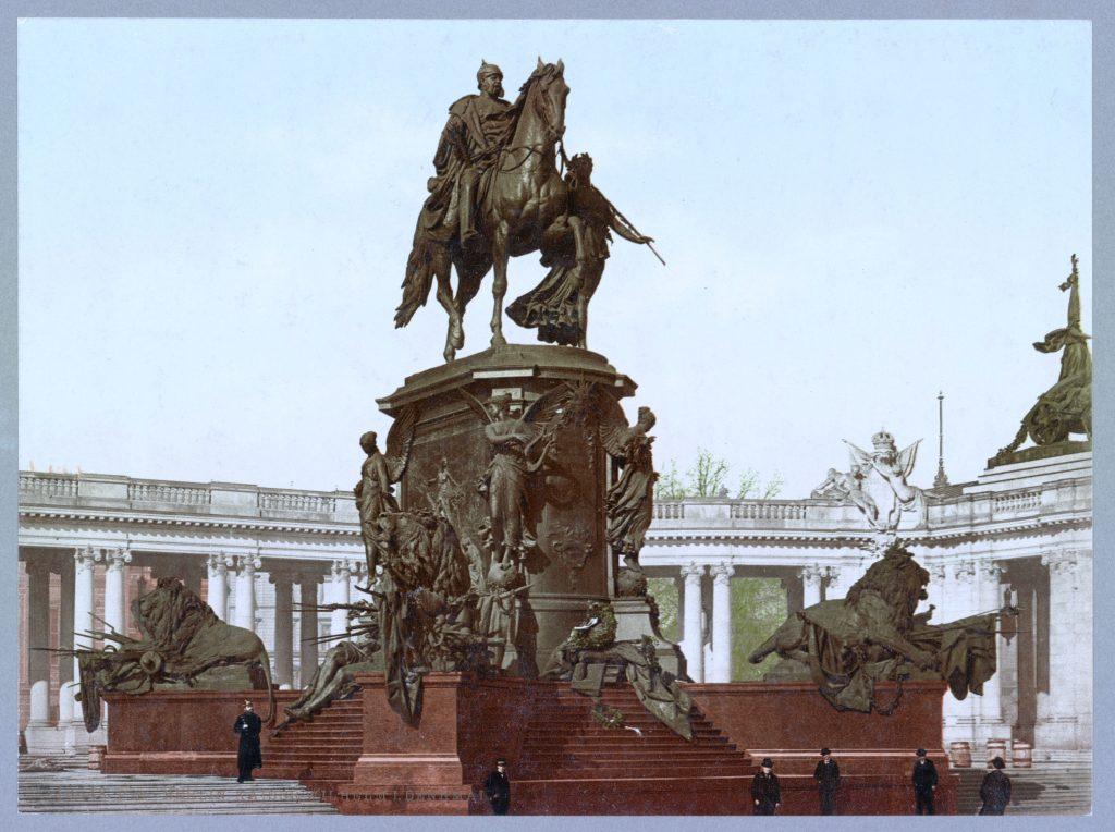 Berlin. Kaiser Wilhelm I. Denkmal. (Photochrom Bild um 1900)