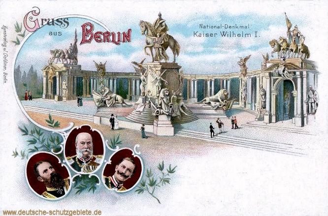 Berlin. National-Denkmal Kaiser Wilhelm I.