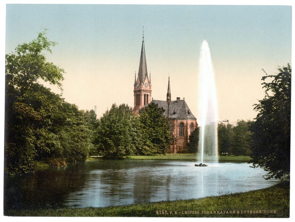 Leipzig. Johannapark & Lutherkirche.