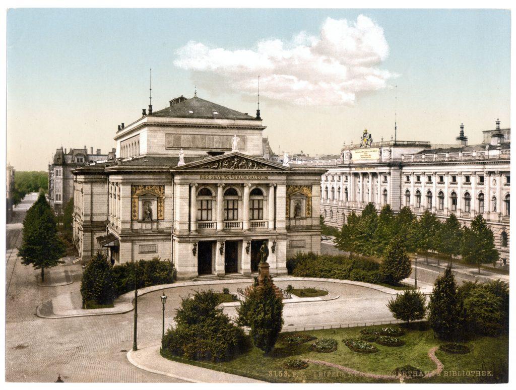 Leipzig. Neues Concerthaus & Bibliothek.