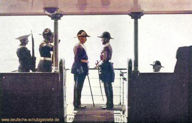 S.M.S. Hohenzollern. Kaiser Wilhelm II. und Zar Nikolaus.