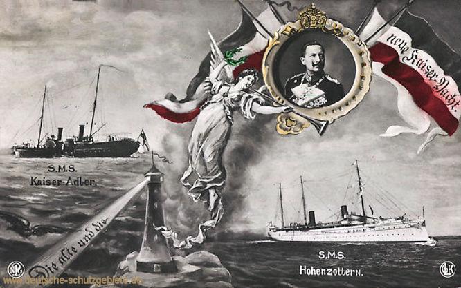 Die alte und die neue Hohenzollern (S.M.S. Kaiseradler und S.M.S. Hohenzollern)
