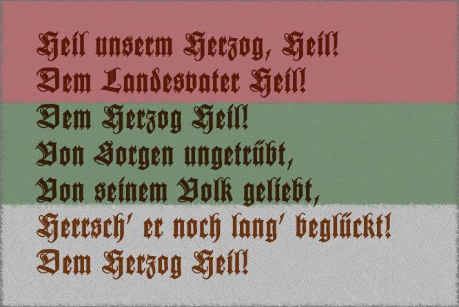 Hymne des Herzogtums Anhalt: Heil unserm Herzog, Heil!