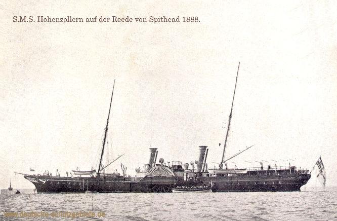 S.M.S. Hohenzollern auf der Reede von Spithead 1888.
